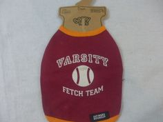 "Dog shirt sassy tee ""varsity fetch team"" hearts outward hound maroon xs new #OutwardHound"