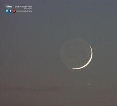 Luna y Saturno al atardecer | Orihuela | 25 oct 2014