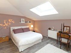 Pink romantic bedroom... I love the cherry blossom light garland by the French company Tse Tse