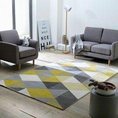 Bodenbelag Teppich Gelb Grau