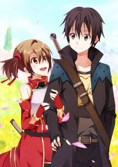 Sword art online Silica and Kirito || I just started this anime and it's soooo cute