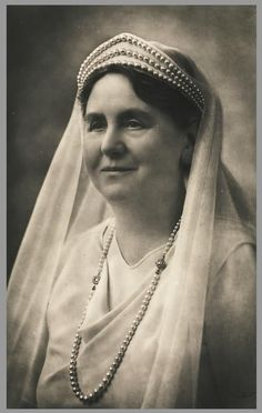 Dutch Queen Wilhelmina in white mourning after the death of her husband, 1934. Photo Franz Ziegler.