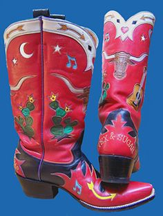 Tex and Sugar boots (custom design) Rocketbuster.
