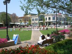 The Greene in Beavercreek Ohio. Great outdoor mall with a fountain for kids to play in during the summer and a giant Christmas tree in December. Great shopping and dining too!