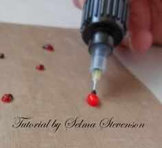 Tutorial on how to create ladybugs as card embellishments