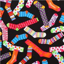 schwarzer Socken Kniestrümpfe Stoff Timeless Treasures USA