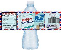 POSTAL RETIREMENT Water Bottle Labels, Retirement Printable Water Bottle Labels, Postal Retirement, Retirement Party ideas, DIY Downloads