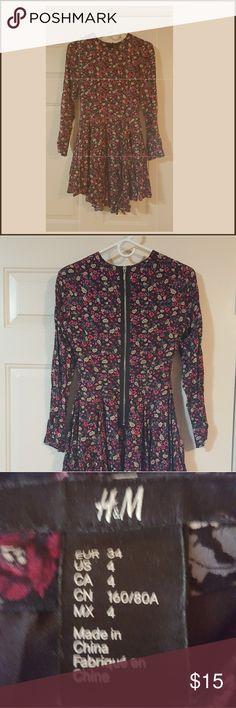 "Forever 21 Long Sleeve Dress Long sleeve dress pink, magenta, cream, black, & gray print. 33"" in length 18"" in sleeve length. 100% polyester Forever 21 Dresses Long Sleeve"