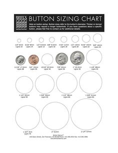 Sew On Snaps Size Chart : snaps, chart, Button, Ideas, Vintage, Buttons,