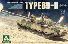 TAKOM 1/35 Iraqi Medium Tank Type-69 II 2 in 1 #TAK-2054 (No.2054) #Affiliate