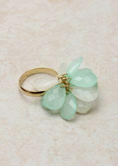 Dainty Aqua Ring
