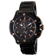 Daniel Steiger Men's 8002K-M Insignia Nero Ion-Plating Black and Ceramic Oversize Ceramic Watch Daniel Steiger. $224.25. Save 25%!