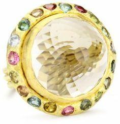 """Metaform"" 18k Gold Smoky Quartz and Tourmaline Shva Ring #unusualengagementrings"