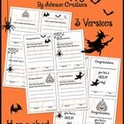 Reward and reinforce students' good days with these cute Halloween themed happy notes. There are 3 different versions and 4 on a sheet. Photocopy t...