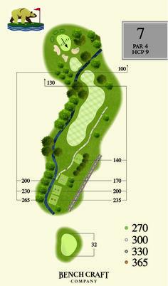 Bear Creek Golf Club map created by http://benchcraftcompany.com/