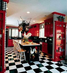 ge profile kitchen with red walls white cabinets and white rh pinterest com