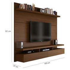 Decocasa Panel Aéreo City Castaño 183 cm – Anime pictures to hairstyles Lcd Panel Design, Tv Wall Design, Tv Unit Decor, Wall Unit Designs, House Shelves, Tv Decor, Wardrobe Door Designs, Living Room Sofa Design, Living Room Tv Unit Designs