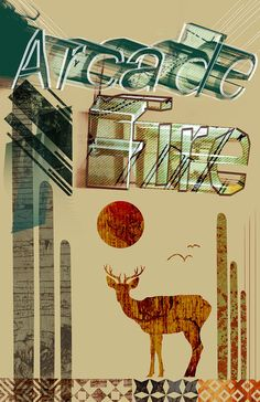 Arcade Fire Poster - Limited Edition of 100 - Just $20 www.dosecreative.com