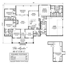 Madden home designs without the sink in island madden for Madden house plans