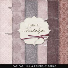 Freebies Background Kit - Nostalgie:Far Far Hill - Free database of digital illustrations and papers