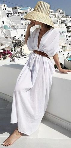 #summer #warm #weather #outfit #ideas | Maxi White Dress