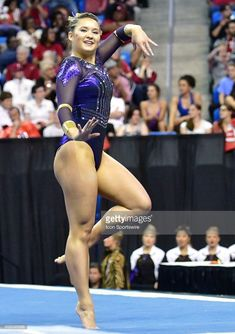 LSU's McKenna Kelley performs her floor exercise during the finals of the NCAA Women's Gymnastics National Championship on April at Chaifetz Arena in St. Lsu Gymnastics, Amazing Gymnastics, Gymnastics Pictures, Artistic Gymnastics, Gymnastics Leotards, Gymnastics Flexibility, Senior Photos Girls, Floor Workouts, Athletic Women