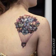 Image result for tatuagem ancora balão