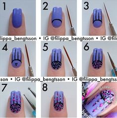 Too much going on for nails I think.  My friend decorates lighters with nail polish - might give this one a go myself.