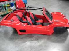 Meyers Manx - red Manxter 2+2 body kit with custom seats and vented sidepods.