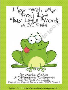 I Spy With My Frog's Eye A CVC Freebie