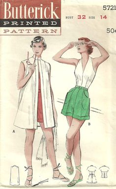 Hey, I found this really awesome Etsy listing at https://www.etsy.com/listing/179517062/vintage-50s-sewing-pattern-butterick