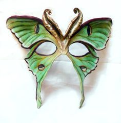 Reserved for SweetSweeterSweetest - Custom Moth Leather Mask