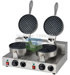 1PC FY-2 Electric Double Head Waffle Maker Mould Plaid Cake Furnace Heating Machine Square Waffle Oven