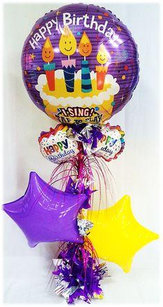 Arreglo de Cumpleaños Musical Velitas!! www.globocentro.com.gt