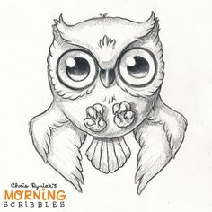 Swoopy the spoopy owl.  #morningscribbles #spookyscribbles | by CHRIS RYNIAK