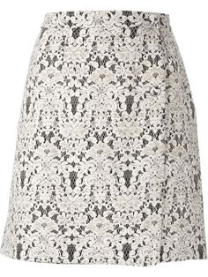 Shop Ermanno Scervino floral lace straight skirt in Mantovani from the world's best independent boutiques at farfetch.com. Over 1000 designers from 60 boutiques in one website.