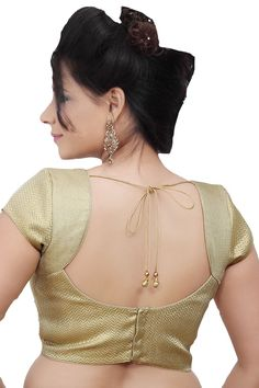 #Elegant Gold Designer #Blouse ideal for #ethnic wear- BL106
