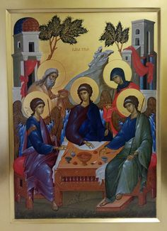 Trinidad, Orthodox Icons, Scene, Pictures, Painting, Icons, Modern, Photos, Painting Art