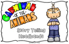 "Students will love bringing the story of the classic tale ""Carnival of the Animals"" to life with these delightful story telling headbands.  These hands-on headbands allow students the opportunity to create their own edition/variation of the story through dramatic play as well as decipher their own interpretation of the specific animal being focused on, etc."