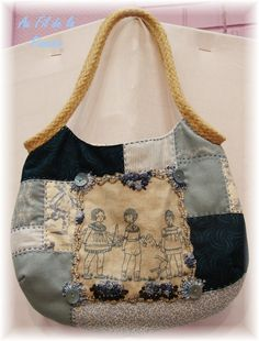 patchwork and embroidery bag-- photo only