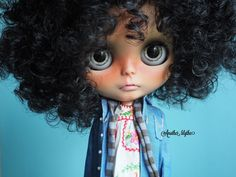 Afro-haired Blythe with Mexican dress
