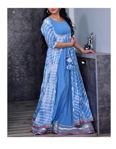 Beautiful Long Jacket style Silk-Mul Dress with pattis detailing. Casual Work Outfits, Work Casual, Casual Wear, Kurti With Jacket, Work Clothes, Clothes For Women, Kurtis Tops, Recycled Dress, Textiles