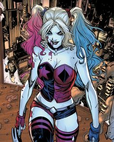 marvel harley and tony . peter and harley marvel . harley from marvel . who is harley in marvel Joker Y Harley Quinn, Harley Quinn Drawing, Archie Comics, Marvel Dc Comics, Dc Comics Girls, Dc Comics Women, Dc Comics Art, Female Dc Characters, Harey Quinn