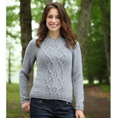 Ravelry: Cable 12 Pullover by Kirsten Hipsky