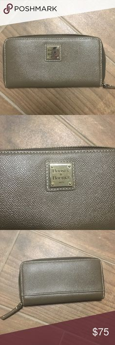 Dooney and Bourke Wallet Dark Tan  Very well taken care of, excellent used condition, Only used two or three times. Does not match my purse collection. Dooney & Bourke Bags Wallets