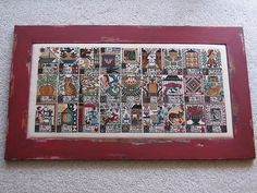 Cross Stitch Alphabets Sampler & Frame by ChiekoY, via Flickr by The Prairie Schooler {9oct13 accessed}