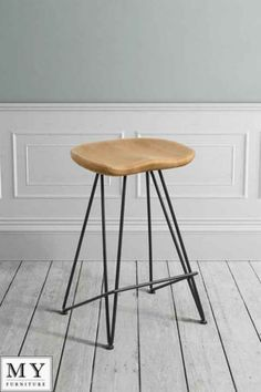 My-Furniture-industrial-barstool-Solid-oak-and-steel-FELIX