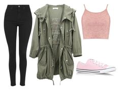 """""""Random"""" by marsophie ❤ liked on Polyvore featuring Boohoo, Converse and Topshop"""