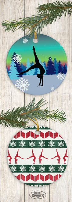Gymnasts will flip out over these adorable christmas ornaments! Gymnastics Coaching, Gymnastics Gifts, Projects For Kids, Art Projects, Amazing Gymnastics, Cat Urine, Image Cat, 2017 Images, Sports Memes