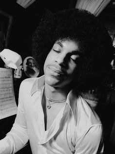 """paisleysprince: """"Prince photographed by Robert Whitman, 1977. """""""